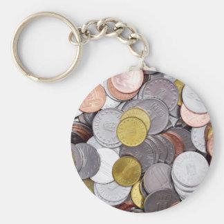 Chaveiro Moedas romenas da moeda