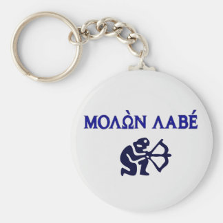 Chaveiro Molon Labe alteração do grego na ?a