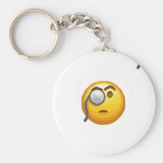 Chaveiro monocle do emoji