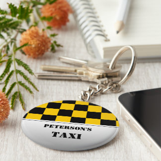 Chaveiro Monograma Checkered do táxi