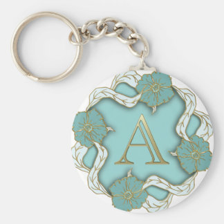 Chaveiro monograma do alfabeto A
