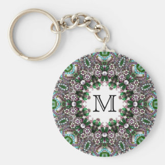 Chaveiro Monograma feito sob encomenda - gemas esmeraldas -