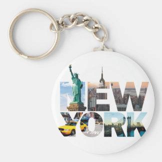 Chaveiro Montagem do alfabeto de New York