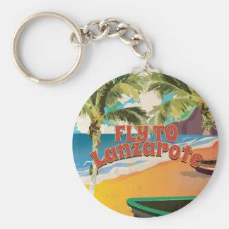 Chaveiro Mosca do vintage ao poster de viagens de Lanzarote