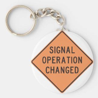 Chaveiro mudado operação do sinal