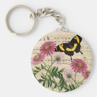 Chaveiro música da borboleta da margarida