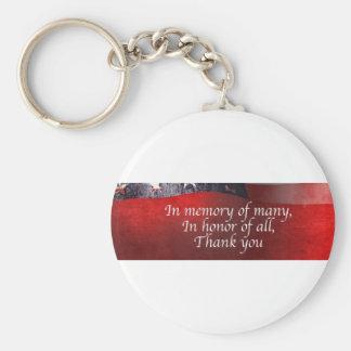 Chaveiro Na memória de muitos em honra de todo o obrigado