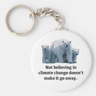 Chaveiro Não acreditando nas alterações climáticas