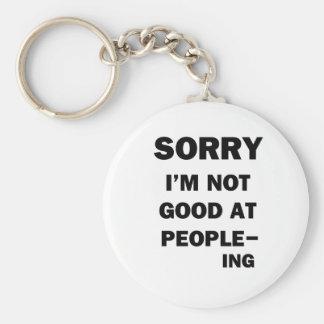 Chaveiro Nao bom em pessoas - Ing