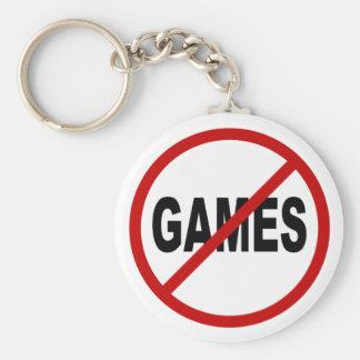 Chaveiro Não deie os jogos/nenhum jogo permitidos a