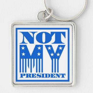 Chaveiro Não meu presidente bandeira dos Estados Unidos