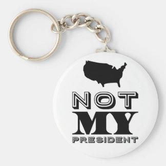 Chaveiro Não meu preto do presidente os Estados Unidos