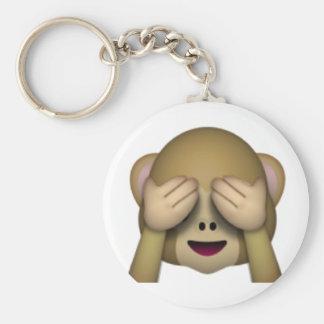 Chaveiro Não veja nenhum macaco mau - Emoji