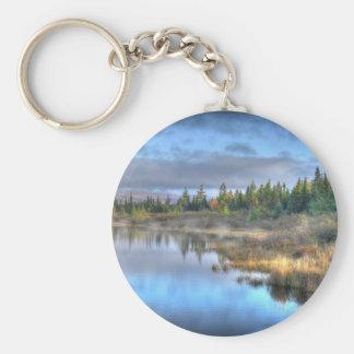 Chaveiro Nascer do sol do outono no lago Maine Moosehead