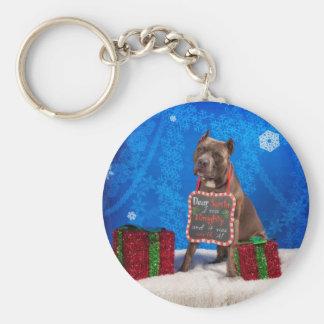 Chaveiro Natal do pitbull