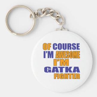 Chaveiro Naturalmente eu sou lutador de Gatka