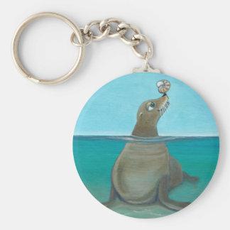 """Chaveiro """"Nautilus"""" o leão de mar"""