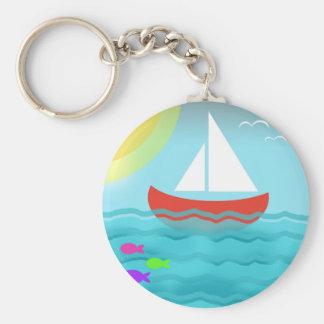 Chaveiro Navegando o chique náutico do marinho azul do