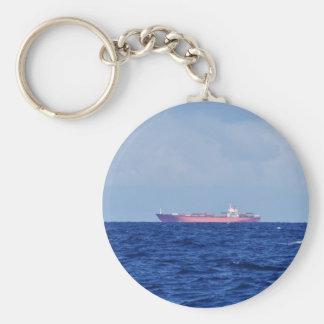 Chaveiro Navio de recipiente vermelho