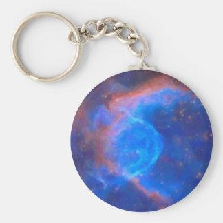 Chaveiro Nebulosa galáctica abstrata com nuvem cósmica 10