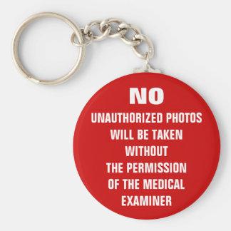 Chaveiro Nenhum sinal da sala da autópsia das fotos