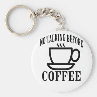 Chaveiro Nenhuma fala antes do café.