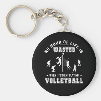 Chaveiro Nenhuma hora desperdiçada ao jogar o voleibol