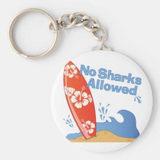 Chaveiro Nenhuns tubarões permitidos