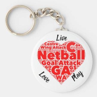 Chaveiro Netball inspirado do design GA do coração