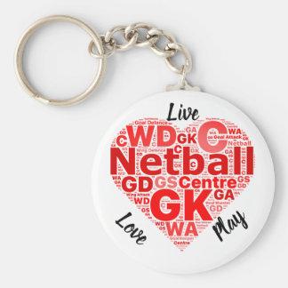 Chaveiro Netball inspirado do design GK do coração