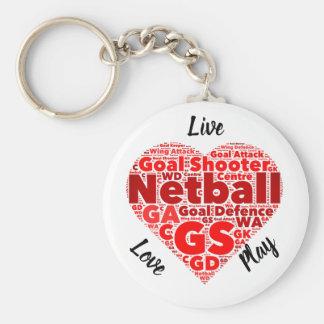 Chaveiro Netball inspirado do GS do design do coração