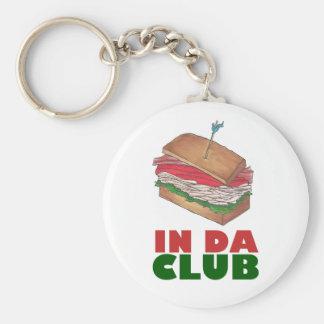 Chaveiro No comensal engraçado de Foodie do sanduíche de