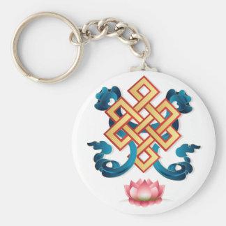 Chaveiro Nó infinito do símbolo da religião do Mongolian