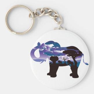 Chaveiro Noite africana com elefante 5