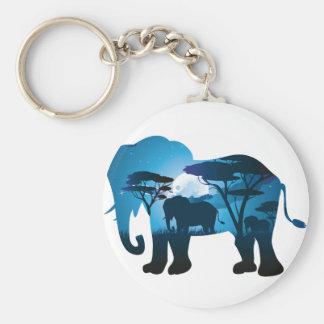 Chaveiro Noite africana com elefante 6
