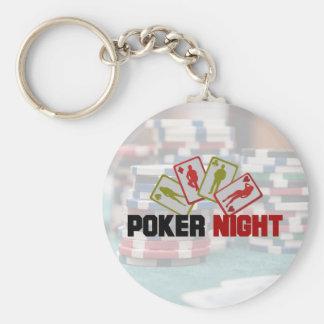 Chaveiro Noite do póquer com cartões de jogo e