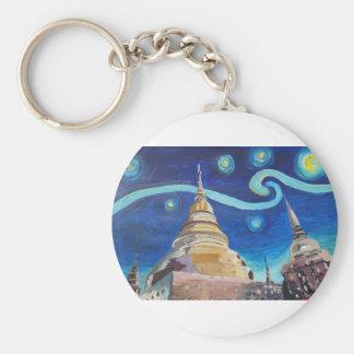 Chaveiro Noite estrelado em inspirações de Tailândia - de