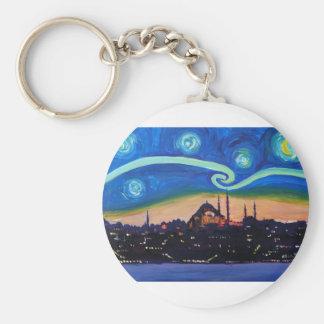 Chaveiro Noite estrelado em Istambul Turquia