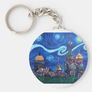 Chaveiro Noite estrelado em St Petersburg Rússia