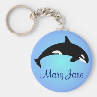Chaveiro Nome do azul do inclinação da baleia de assassino