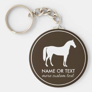 Chaveiro Nome equestre personalizado da equitação