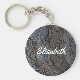 Chaveiro Nome preto vermelho de pedra da textura do granito