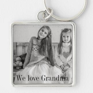 Chaveiro Nós amamos a corrente chave da foto da avó