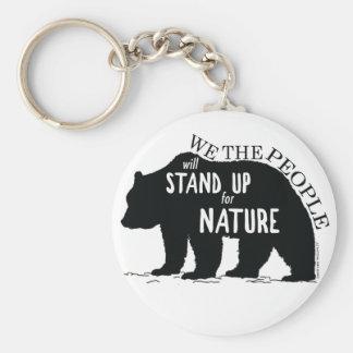 Chaveiro Nós que as pessoas representam acima a natureza -