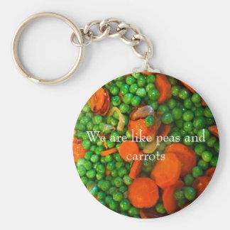 Chaveiro Nós somos como ervilhas e cenouras