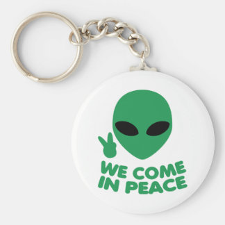 Chaveiro Nós vimos na alienígena da paz