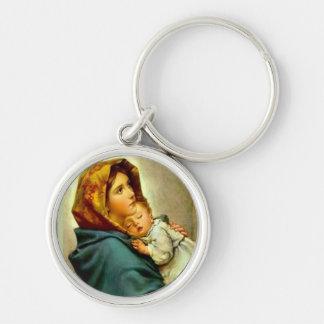 Chaveiro Nossa senhora do bebê abençoado rua Jesus da mãe