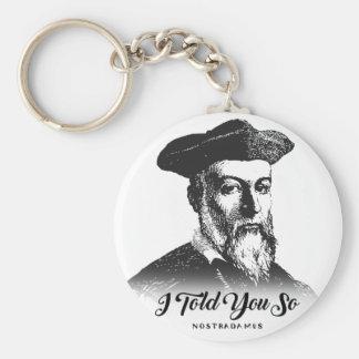 Chaveiro Nostradamus: Eu disse-o assim