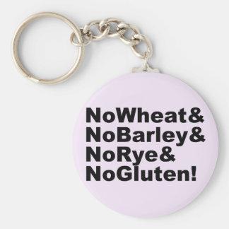 Chaveiro NoWheat&NoBarley&NoRye&NoGluten! (preto)