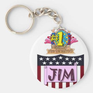 Chaveiro Número um Jim